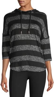 Calvin Klein Three-Quarter-Sleeve Pullover Hoodie