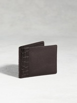 John Varvatos Genuine Crocodile Slimfold Wallet