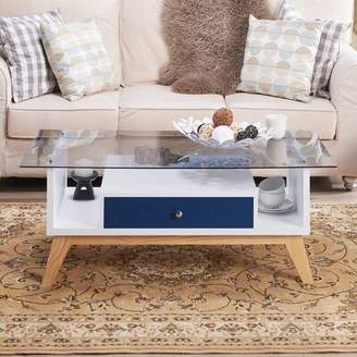 Levi's Brayden Studio Coffee Table with Storage Brayden Studio Color: Navy/White