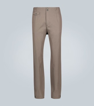 Rochas Buttoned wool-blend pants