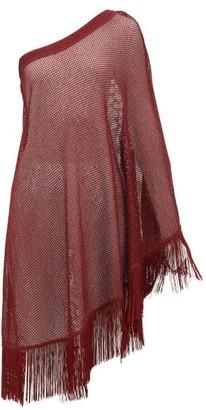 Missoni Mare - One-shoulder Metallic Crochet-knitted Kaftan - Burgundy