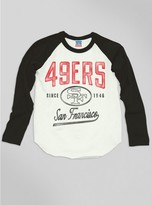 Junk Food Clothing Kids Boys Nfl San Francisco 49ers Raglan-sugar/black Wash-xl