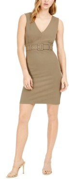 Bar III Belted Bodycon Dress, Created for Macy's