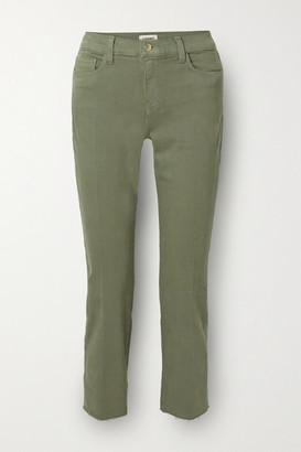 L'Agence Sada Cropped High-rise Slim-leg Jeans - Green