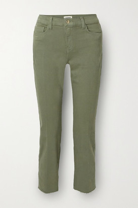 L'Agence Sada Cropped High-rise Slim-leg Jeans