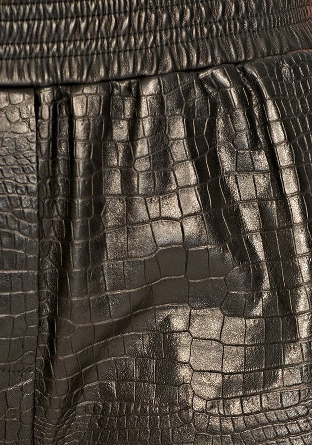 Alexander Wang Leather Croc Embossed Boxer Short