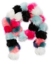 Betsey Johnson Pommy Dearest Faux Fur Muffler