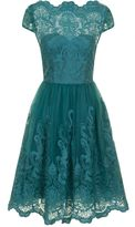 House of Fraser Chi Chi London Metalic Lace Tea Dress