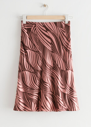 And other stories Swirl Print Midi Skirt