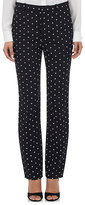 Givenchy Women's Micro Cross-Print Cady Trousers-BLACK