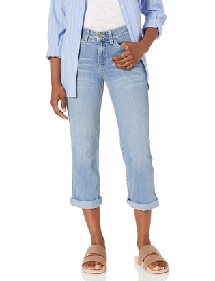 Rafaella Women's Petite Slim Fit Denim Capri Bay Blue 8P