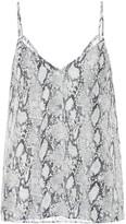 Frame Snake-print silk camisole