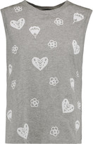 Markus Lupfer Flocked cotton-jersey tank
