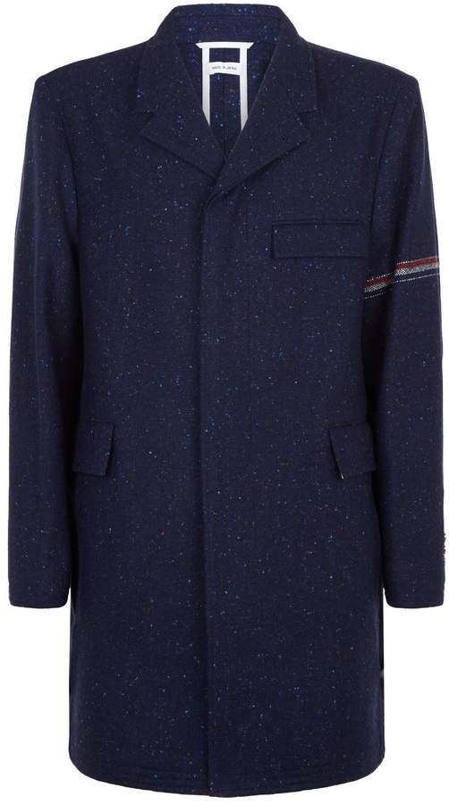 Thom Browne Chesterfield Arm Stripe Overcoat
