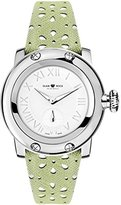 Glam Rock Women's summerTime 40mm Green Leather Band Steel Case Swiss Quartz White Dial Watch GR40421