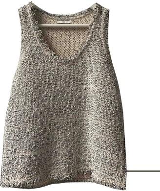 Balenciaga Silver Tweed Tops