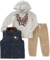 Kids Headquarters 3-Pc. Graphic-Print Hoodie, Vest & Pants Set, Toddler Boys (2T-5T)