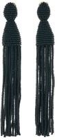 Oscar de la Renta Long Tassel Earrings