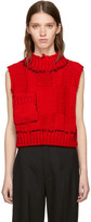 Raf Simons Red Blow-Up Patchwork Gilet Vest
