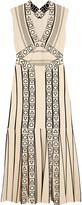 Peter Pilotto Smocked pleated jacquard-knit midi dress