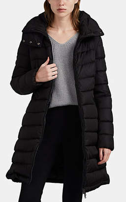 Moncler Women's Flammette Down Zip-Front Coat - Black