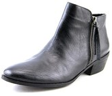 Yellow Box Acacia Round Toe Leather Ankle Boot.