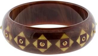 Mark Davis 18kt Yellow Gold Bakelite Geometric Bangle Bracelet