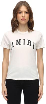 Amiri Logo Printed Cotton Jersey T-shirt