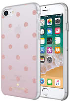 Kate Spade Ombre Dot Case for iPhone 7 and iPhone 8, Clear/Glitter Pink