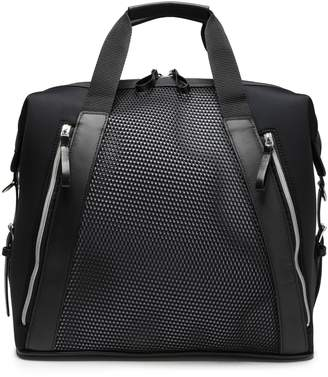 Monreal London Leather-trimmed Mesh-paneled Neoprene Weekend Bag