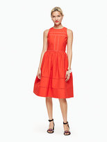 Kate Spade Lace inset fit and flare dress