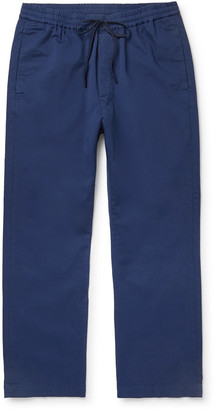 Barena Tapered Cotton-Twill Drawstring Trousers - Men - Blue