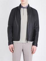 Armani Collezioni Bomber-style leather jacket