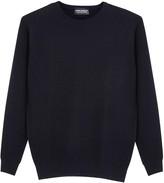 John Smedley 1.singular Navy Textured-knit Wool Jumper