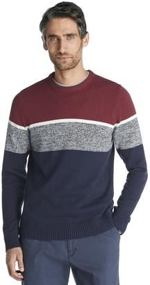 Izod Men's Classic-Fit Striped Crewneck Sweater