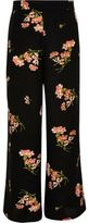 River Island Girls black floral print palazzo pants