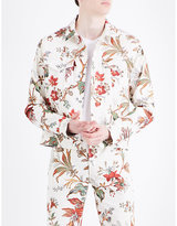 Mcq Alexander Mcqueen Floral-print Stretch-cotton Jacket