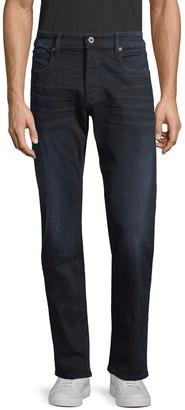 G Star Slim-Fit Leather-Trim Jeans