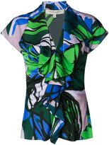 Carolina Herrera ruffle front blouse - women - Silk/Spandex/Elastane - 2