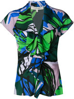 Carolina Herrera ruffle front blouse