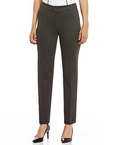 Kasper Petite Pin Dot Jacquard Slim Pants