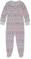 Asstd National Brand Girls White Bunny Pant Pajama Set-Toddler