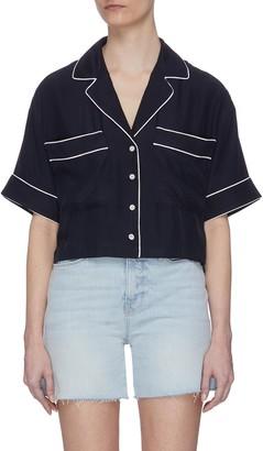 Frame Contrast Rib Button Up Shirt