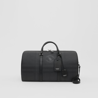 Burberry Logo Graphic London Check and Leather Holdall