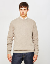 Barbour Patch Crew Jumper Off White
