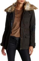 Blanc Noir BNCI by Faux Fur & Leather Utility Jacket