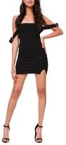 Missguided Women's Bardot Buckled Body-Con Dress