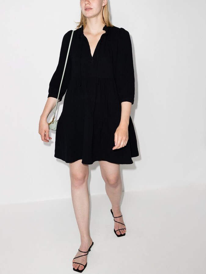 Thumbnail for your product : HONORINE Black Giselle Tiered Dress