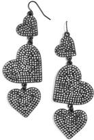 BaubleBar Women's Serenity Pave Drop Earrings