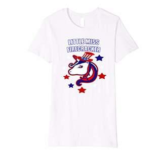 Little Miss Firecracker Girls 4th Of July Shirt Light Colors
